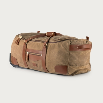 White Wing Waxed Canvas Large Rolling Duffel Bag