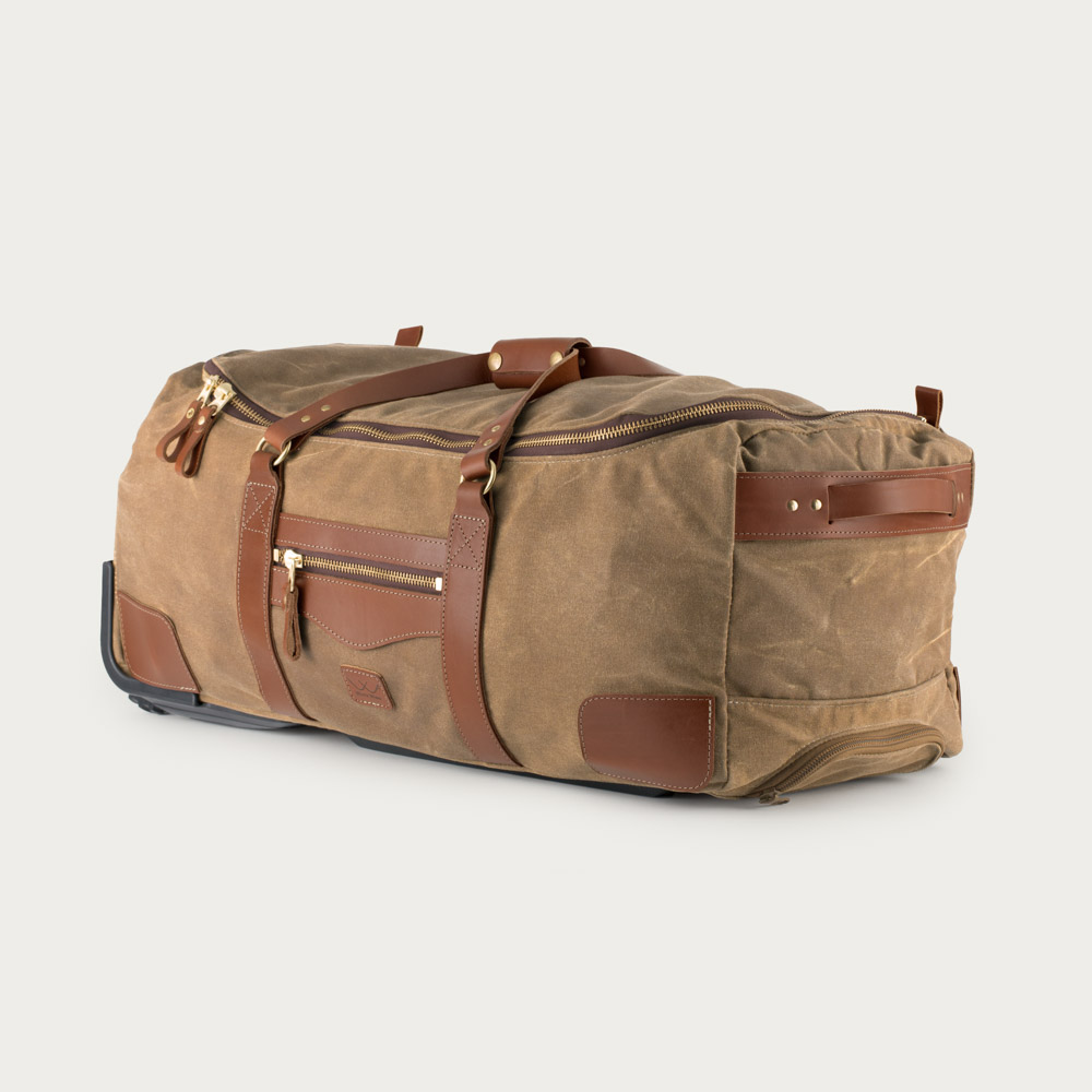 2b176ca56fcd White Wing Waxed Canvas Large Rolling Duffel Bag