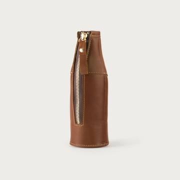 White Wing Leather Bottle Coozie