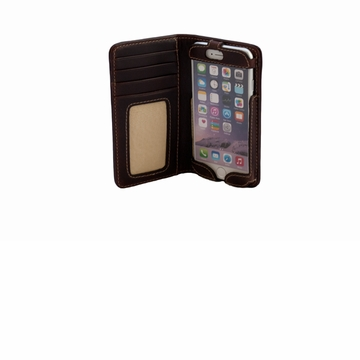 White Wing Leather I-Phone Wallet 6 Plus Chestnut