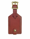 White Wing Leather Luggage Tag
