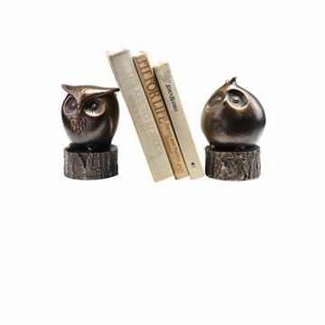 Wide-Eyed Owl Bookends by SPI Home