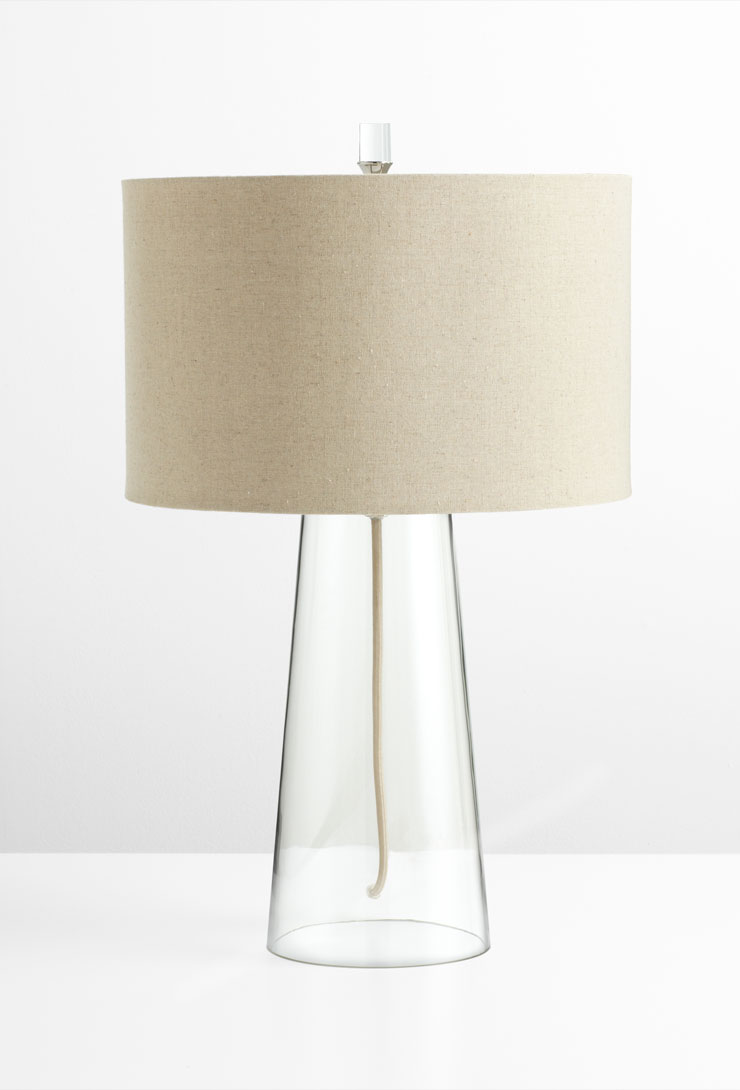 wonder modern glass table lamp by cyan design