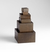 Wood Art Pedestals Brown by Cyan Design