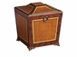 Wood Finish Footed Box Home Decor
