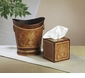 Wood Finish Iron Tissue Box Home Decor