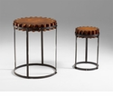 Wood Gear Tables Set (2) by Cyan Design