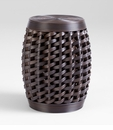 Woven Sienna Stool by Cyan Design