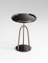 Ziggy Black Iron Side Table by Cyan Design