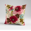 Zinnia Fuchsia Decorative Pillow by Cyan Design