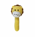 Zubels Lion Crochet Stick Rattle
