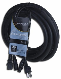 American Audio Accu Cables SKAC25 AC/XLR Combo Cables