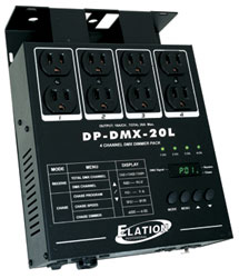 American DJ DP-DMX20L 4-Channel DMX Dimmer/Switch Pack
