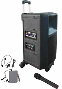 Audio2000 AWP6404 VHF Wireless PA System with CD Player