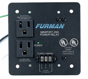 Furman MP-20Q - Power relay and outlet, remote, and on quad plate (120V/20A) Free Shipping