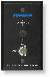 Furman RS-1 Keyswitch on 1 Gang Switchbox, Maintained Connection (black)