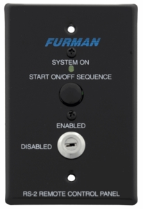 Furman RS-2 Keyswitch on 1 gang switchbox, momentary connection (black)