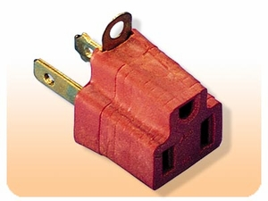 Grounding Adapter - U-Grounded 3-Prong Plug To Regular 2-Prong Plugs