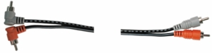 Hosa CGA-201 Dual Cable Right Angle To Straight RCA - 1M (3.3 FT)