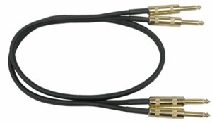 "Hosa CPP-405G Dual Audio Interconnects 1/4"" To 1/4"" - 5 FT"