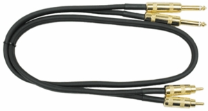 "Hosa CPR-405G Pro Dual RCA To 1/4"" Phone - 5 FT"