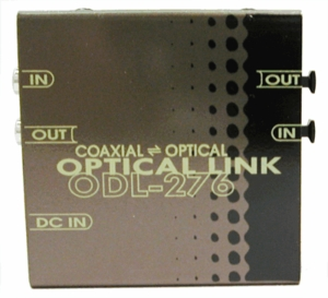 Hosa ODL-276A Data Link: Coaxial (RCA) To Fiber Optic (Toslink)