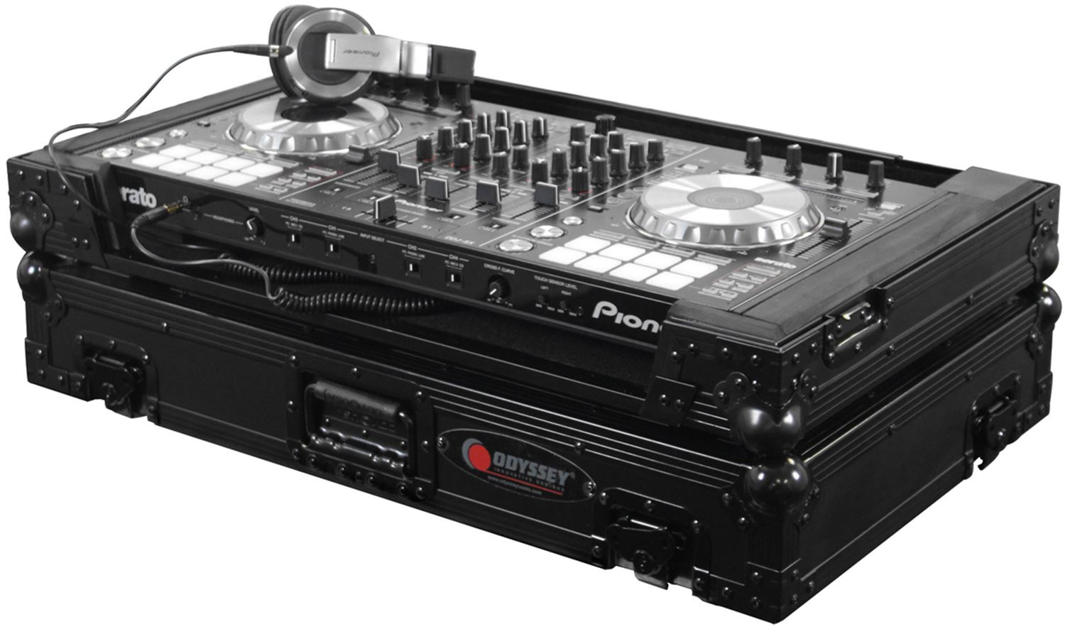 odyssey black label pioneer ddj sx dj controller case fzeupiddjsxbl. Black Bedroom Furniture Sets. Home Design Ideas