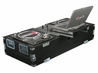 Odyssey CGSBM10/CGSBM10 Glide Style Carpeted Turntable Coffin