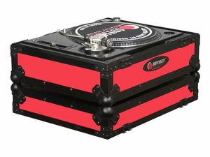 Odyssey FR1200BKRED Turntable Case - Red