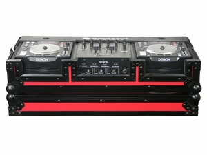 Odyssey FRDNX1200BKRED Denon CD DJ Coffin Case