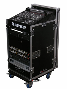 Odyssey FZ1112WDLX Combo Rack With Side Table And Wheels - Flight Zone Series