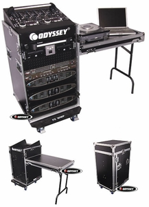 Odyssey FZ1116WDLX Combo Rack With Side Table And Wheels - Flight Zone Series