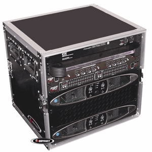 Odyssey FZAR10 10-Space Amp Rack Case - Flight Zone Series