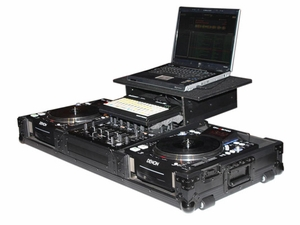 Odyssey FZGS10/12CDJWBL Glide Style DJ Coffin - Black Label Series