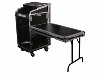 Odyssey FZGS1116WDLX Glide Style 11x16-Space Combo Rack Case With Wheels And Side Table