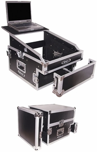 Odyssey FZGS1304 Glide Style 13x4-Space Combo Rack Case