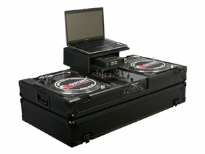 Odyssey FZGSBM10WBL Glide Style DJ Coffin - Black Label Series