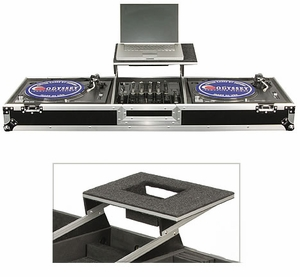 Odyssey FZGSDJ12W Glide Style Turntable Coffin With Wheels