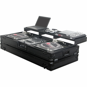 "Odyssey FZGSPBM12WBL Two Turntables In Battle Position and a 12"" Width Mixer"