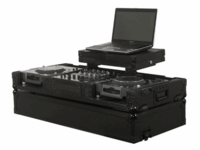 Odyssey FZGSX-10-12CDJWBL Glide Style CDJ DJ Coffin - Black Label Series