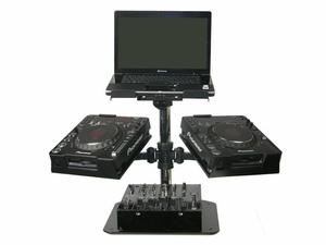 Odyssey L2CDJUNI DJ Laptop Stand - Triple Arm Elevation Package