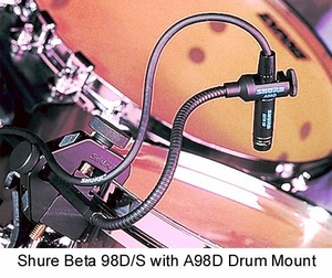 Shure Beta 98D/S Snare/Tom Microphone 20hZ To 20kHz
