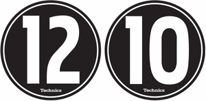 Technics 1210 Slipmats-White on Black (pair)