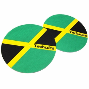 Technics Jamaika Slipmats-Jamaican Flag (pair)