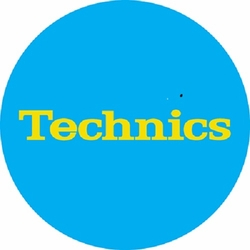 Technics Logo Slipmats-Yellow Logo on Light Blue mat (Pair)