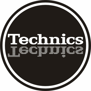 Technics Mirror Slipmats-White logo on Black mat (pair)
