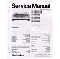 technics service manual for sl1200 1210mk5 rh djhardwares com Technics 1200 MK2 Technics SL-1200 Discontinued