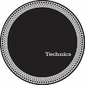 Technics Strobe Slipmats-Silver Logo and Strobe on Black mat (pair)