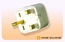 Universal Plug - British 3 Metal Pin