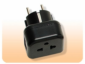 VDE Earth Round Pin Plug - 5mm , Plug Adapter